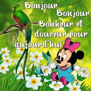 Minnie images bonjour