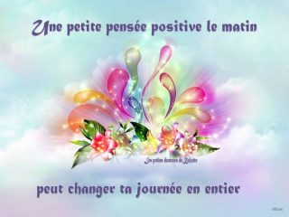 belles images: Une pensée positive dans la matinée bonne journée