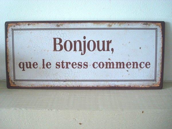Bonjour-stress