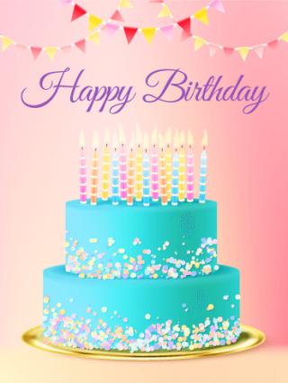 Bon Anniversarie gâteau