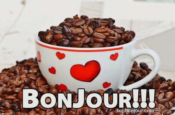 bonjour avec café