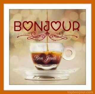 jeudi tasse de café