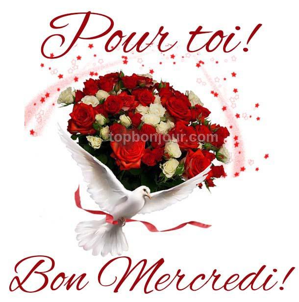 bouquet de fleurs mercredi