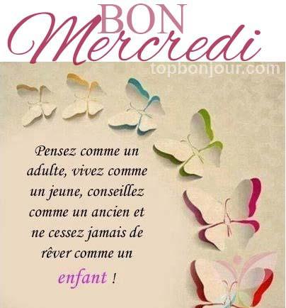 Mercredi, pensée et message