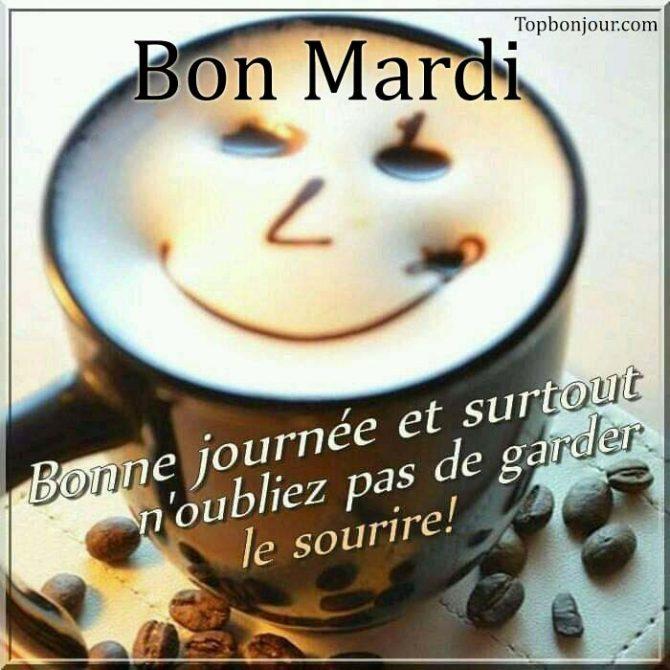 bonjour cappuccino sourire mardi