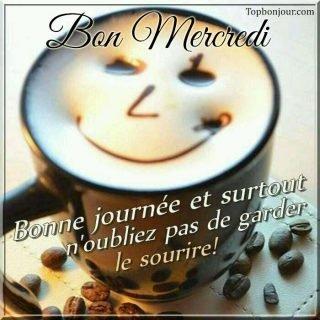 Cappuccino Smile pour vous souhaiter un bon mercredi